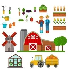 Farm symbols vector image
