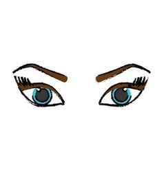 Female eyes icon vector