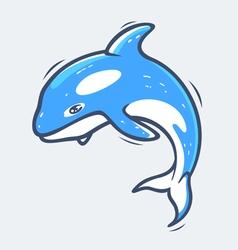Grampus sea life vector image