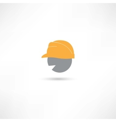 Head in a helmet vector image
