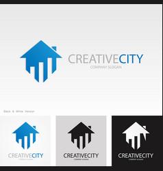 home creative business logo vector image