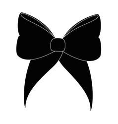 isolated cute ribbon vector image vector image