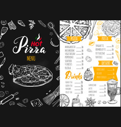 italian food menu 6 vector image