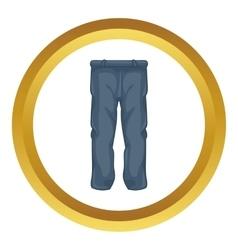 Men pants icon vector image vector image