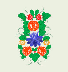 ornament in the slavic folk style vector image vector image