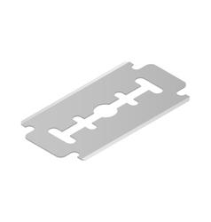 Razor blade icon isometric 3d style vector