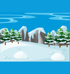 Scene with snow on the ground vector