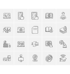 Self-education sketch icon set vector image vector image