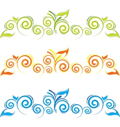 Swirl floral border vector image