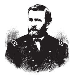 ulysses s grant vintage vector image vector image