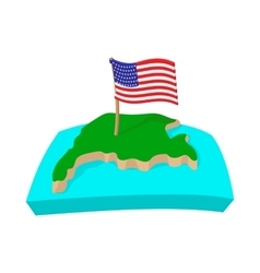 USA map with flag icon cartoon style vector image