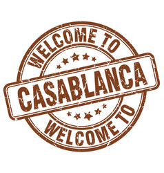 Welcome to casablanca vector