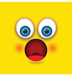 Shocked square emoji vector