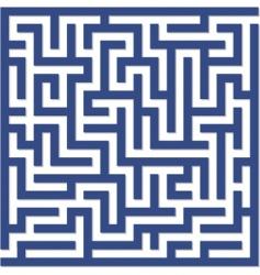 Blue maze vector