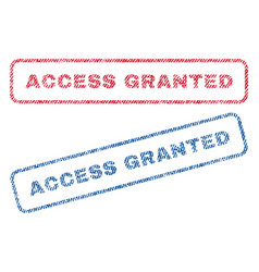Access granted textile stamps vector