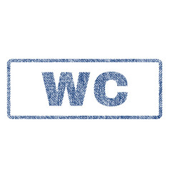 Wc textile stamp vector