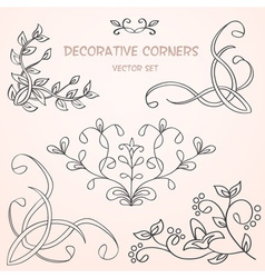 Floral decorative borders set vector