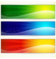 Abstract trendy colorful banners vector