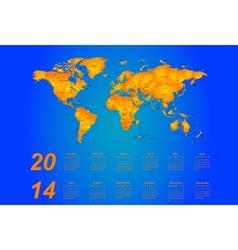 Timezone calendar 2014 vector image