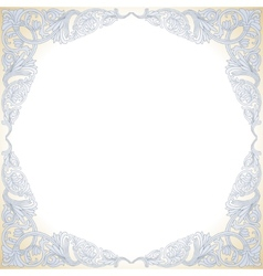 Frame with baroque ornaments victorian border vector
