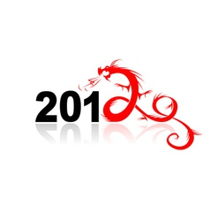 2012 year of dragon vector image vector image
