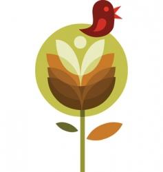 bird on flower vector image