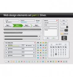 web design elements set part vector image