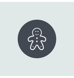 Icon christmas gingerbread man for holiday season vector