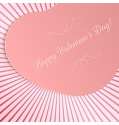Realistic valentines day big paper heart card vector