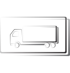 truck icon in frame vector image