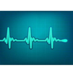 Normal electronic cardiogram vector