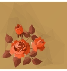 Background with flower rose vector