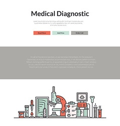 Medical web page vector