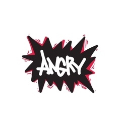 Angry color inspirational vector