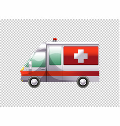 Ambulance van on transparent background vector