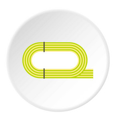 athletic stadium icon circle vector image