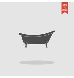 Bathtub Icon Flat design style vector image vector image