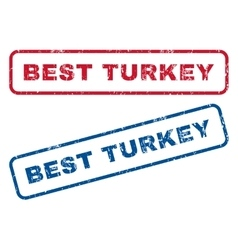 Best Turkey Rubber Stamps vector image