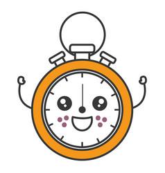 chronometer measure kawaii character vector image