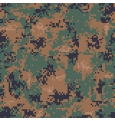 Digital woodland camouflage seamless pattern vector