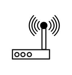 Figure router connection wifi service icon vector