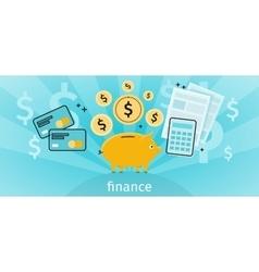 Finance Concept Banner Design Flat vector image vector image