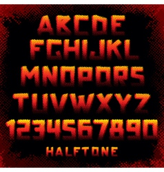 grunge font vector image vector image