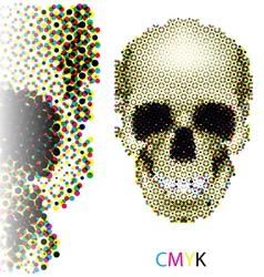 Halftone skull vector