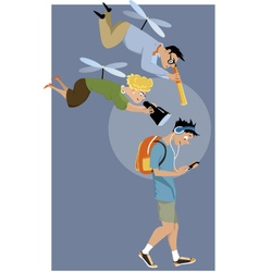 Helicopter parents vector