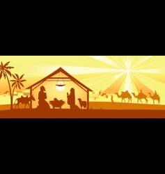 holy night way to bethlehem vector image vector image
