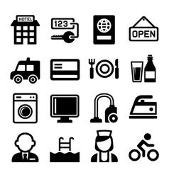Hotel and Services Icons Set vector image vector image