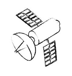 isolated satellite design vector image