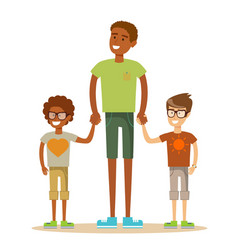 Mixed race family vector