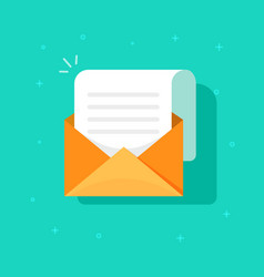 New email message icon flat carton envelope with vector